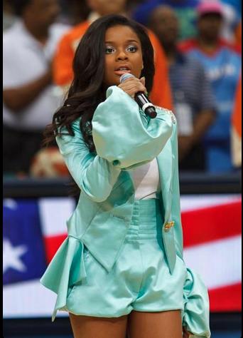 Ajiona WNBA National Anthem