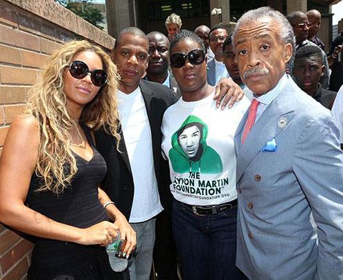 Beyonce-Jay-Z-Sybrina-Fulton-Rev-Al-Sharpton